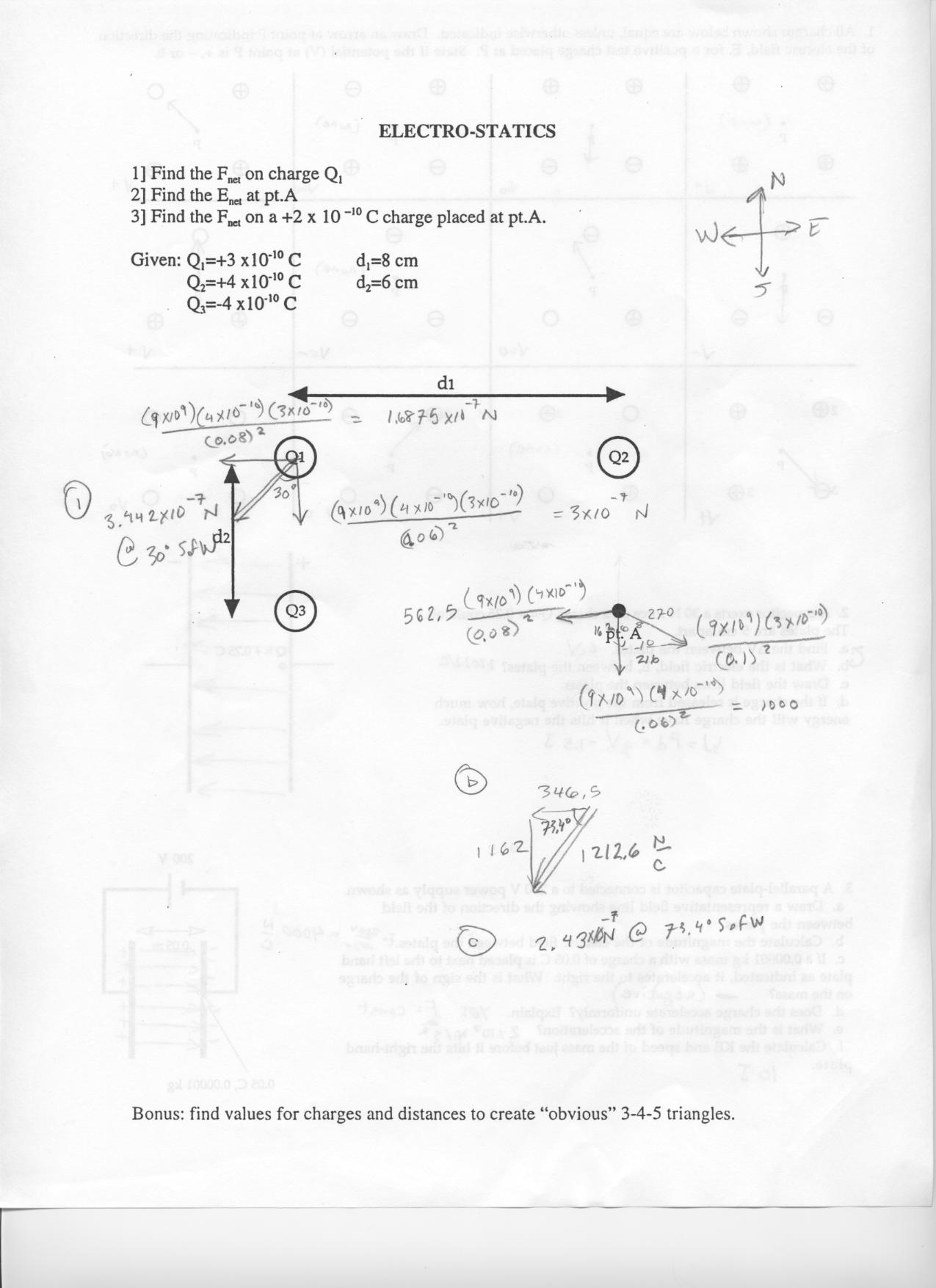 Worksheets Electrostatics Worksheet physics handouts web