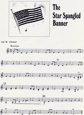Star Spangled Banner For Clarinet 83